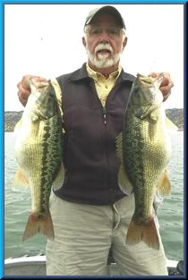 Lake Berryessa, 2 spotted bass for near 7 lbs