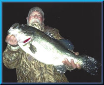 Fishing partner Mike Sperbeck with personal best, Clear Lake, Dec 2013, 11.35 lbs!