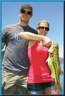 SF Giants All-Star Matt Cain and wife Chelsea with her 3.6 lb spot